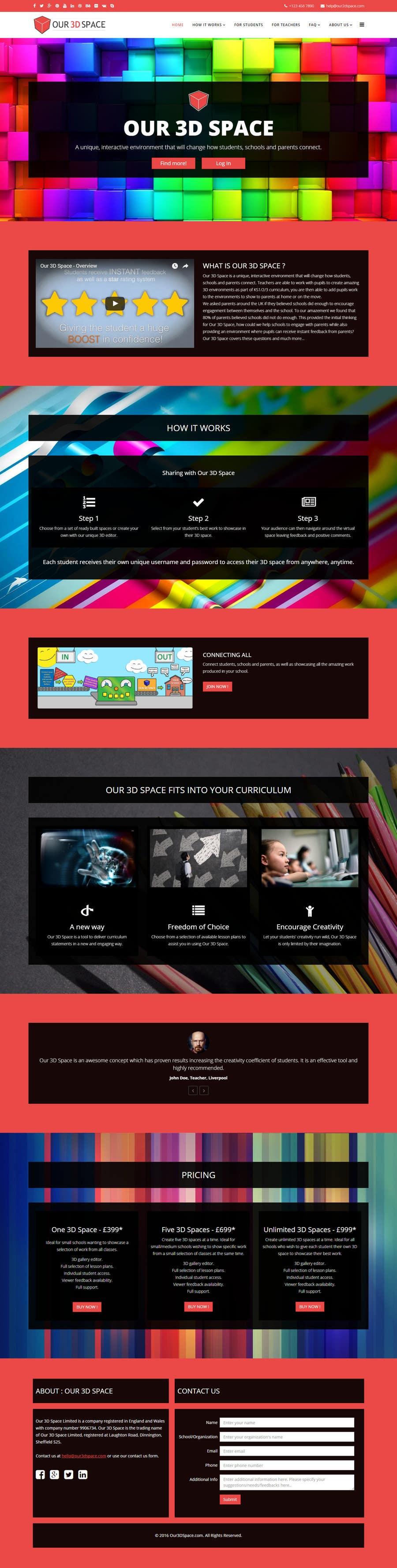 Kilpailutyö #18 kilpailussa Design a Website Mockup for an existing site