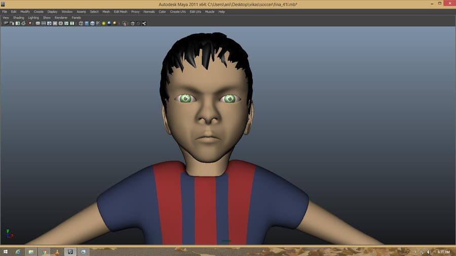 Game Character Design Apps : Entry #27 by vikasmrt for 3d character design for mobile soccer game