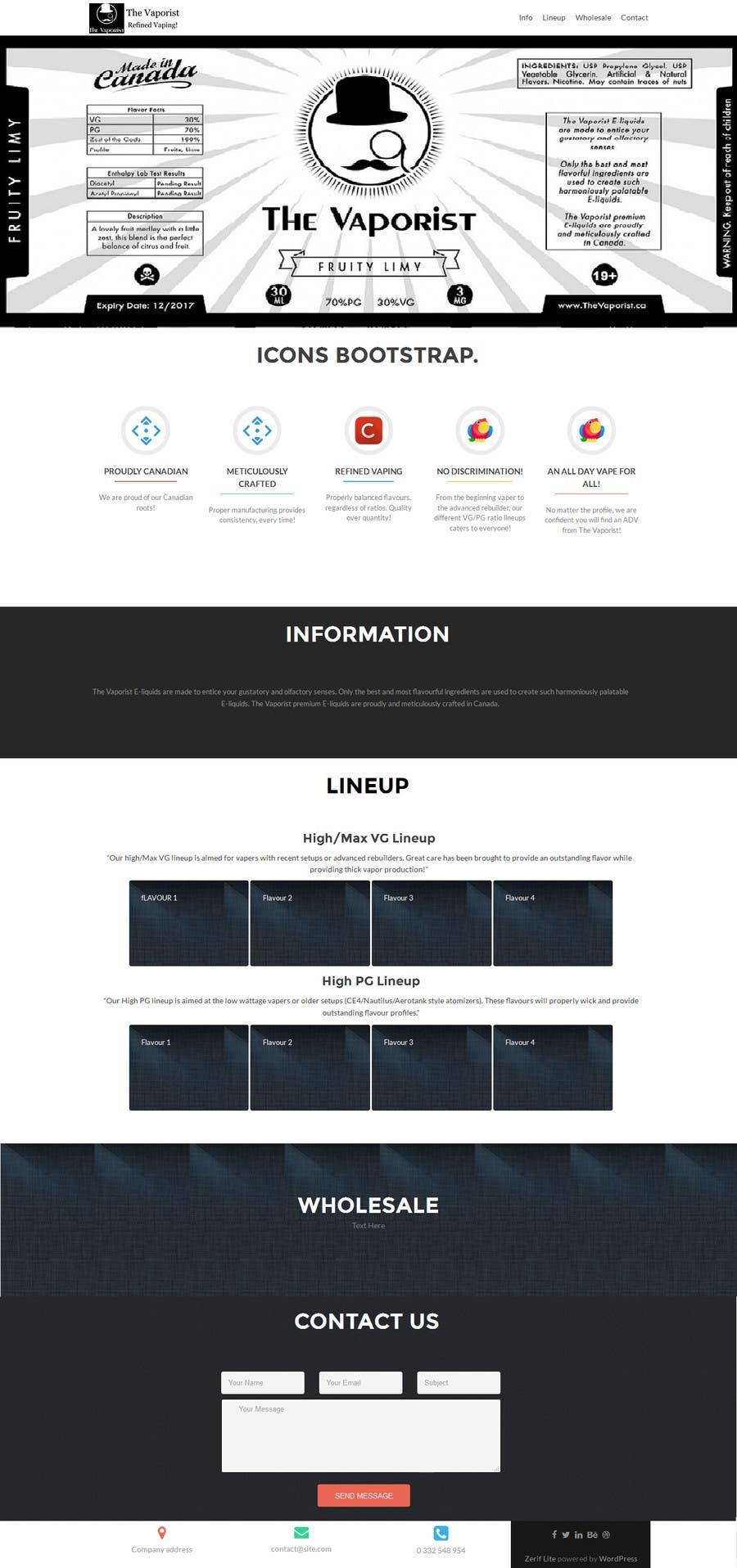 Participación en el concurso Nro.                                        6                                      para                                         Design a single Bootstrap wordpress page