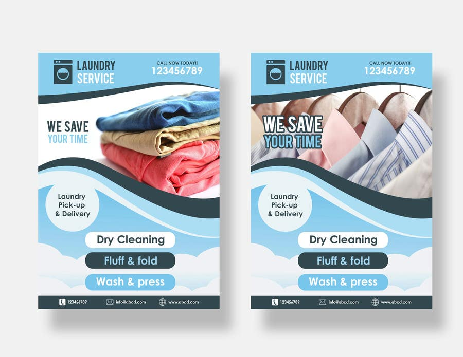 laundry flyers templates - flyer design for pickup and delivery 1 freelancer