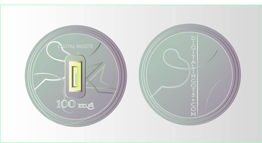 Contest Entry #                                        4                                      for                                         Acrylic coin design for encased gold ingot- Please read description -- 2