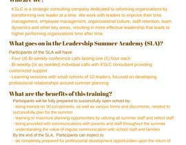 #3 for Summer Leadership Institute Brochure by purplechelone