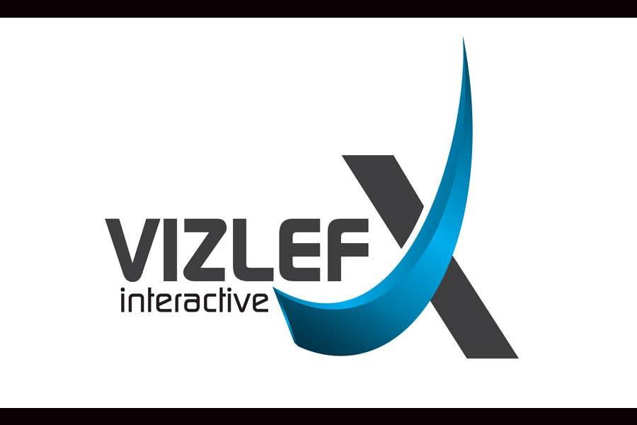 Kilpailutyö #125 kilpailussa Logo Design for VIZLEFX Interactive