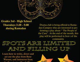 #5 for Design a Flyer for a Drama Club by bmorganb28