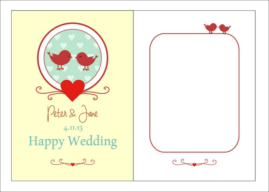 #33 for Design some Stationery for a Wedding Greeting Card - repost by rakhmakurnia