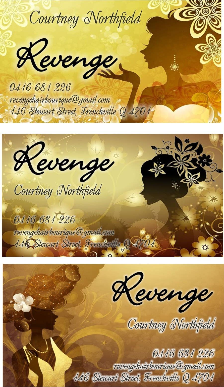 #7 for Design some Business Cards for Revenge by adilnd