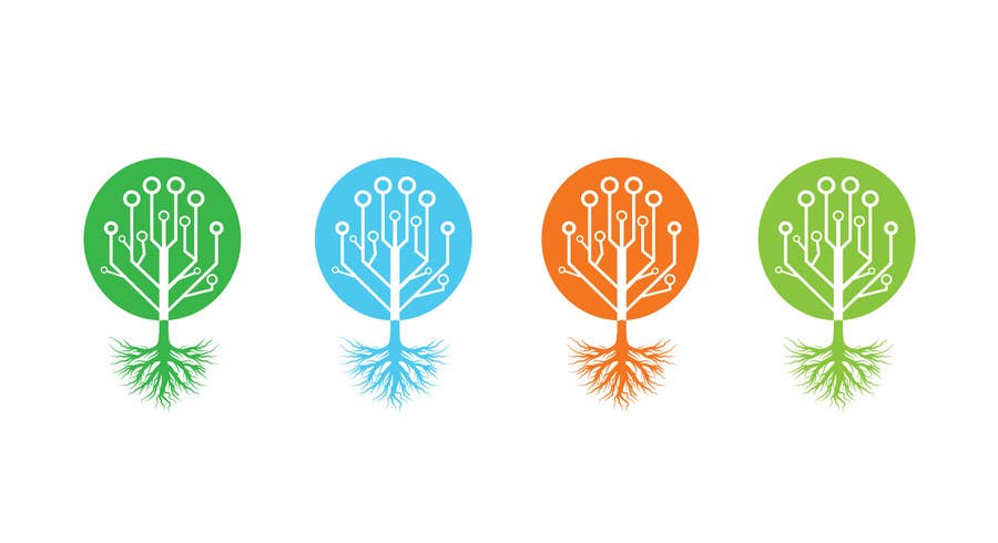 Contest Entry #                                        6                                      for                                         Design a Nature/Technology Logo Symbolizing a balance between the two