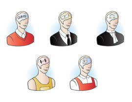 #16 para Illustration of the minds of people in five professions por elenabsl