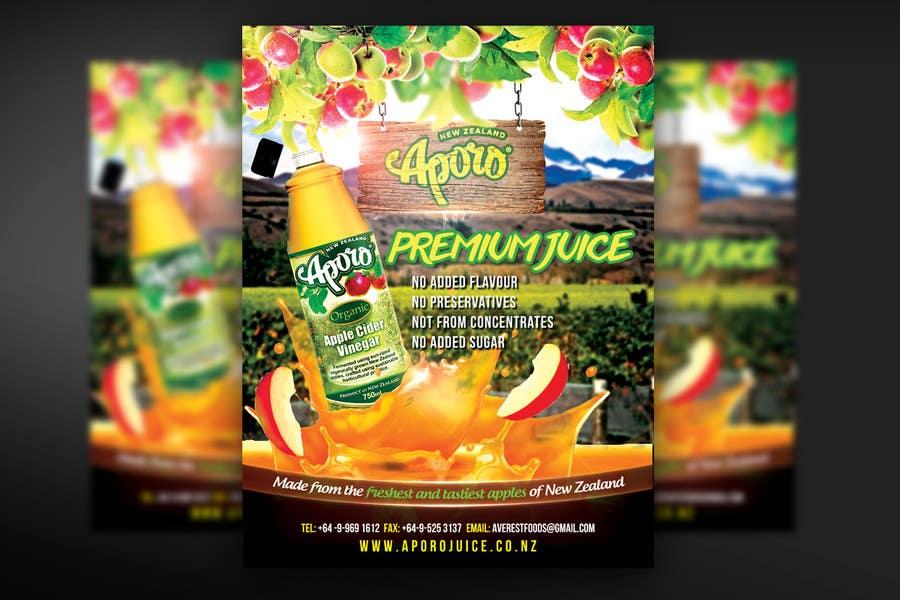 Penyertaan Peraduan #                                        12                                      untuk                                         A4 flyer design for juice