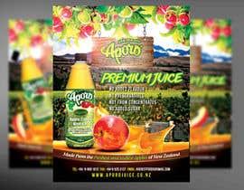 Nro 13 kilpailuun A4 flyer design for juice käyttäjältä mirandalengo