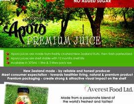 Nro 24 kilpailuun A4 flyer design for juice käyttäjältä viannie