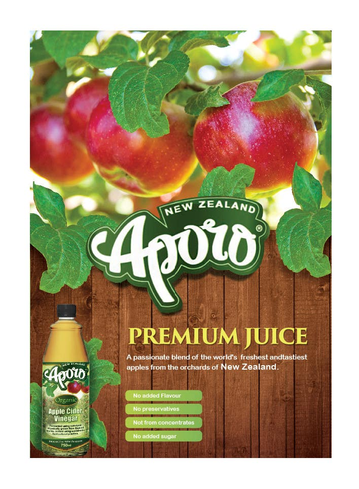 Penyertaan Peraduan #                                        9                                      untuk                                         A4 flyer design for juice