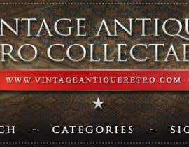 nº 32 pour New Design header for an antique/vintage/retro web site par Larcdesbach