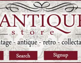 nº 13 pour New Design header for an antique/vintage/retro web site par MCSChris