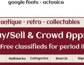nº 24 pour New Design header for an antique/vintage/retro web site par MCSChris