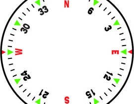 Nro 29 kilpailuun Draw an airplane compass käyttäjältä danesebastian