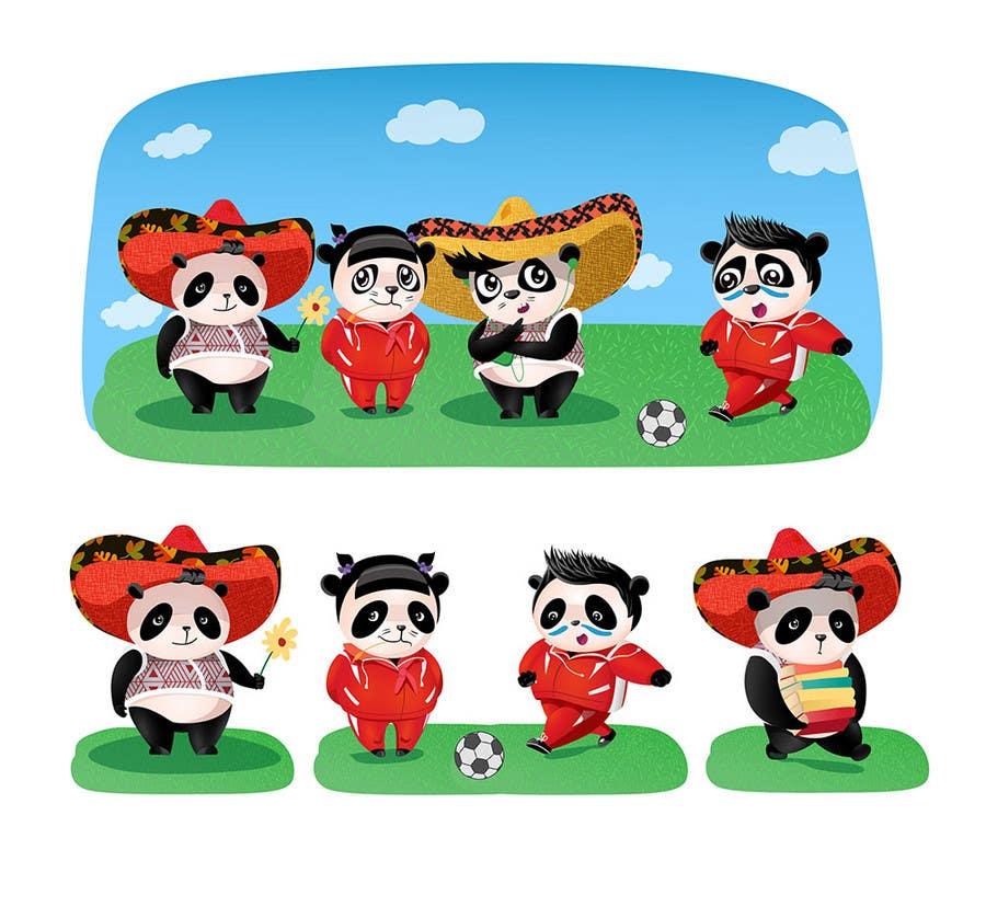 Contest Entry #70 for Illustration Design for Animation illustration for Panda cubs.