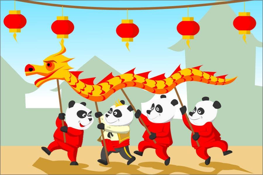 Inscrição nº 53 do Concurso para Illustration Design for Animation illustration for Panda cubs.