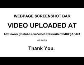 #8 untuk URGENT! Create a Video PROMO for Webpage Screenshot Bar oleh NutellaMan