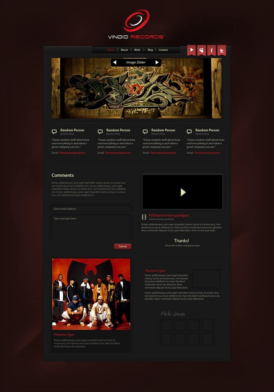Participación en el concurso Nro.                                        36                                      para                                         Website Design for Vindio Records, LLC a record label