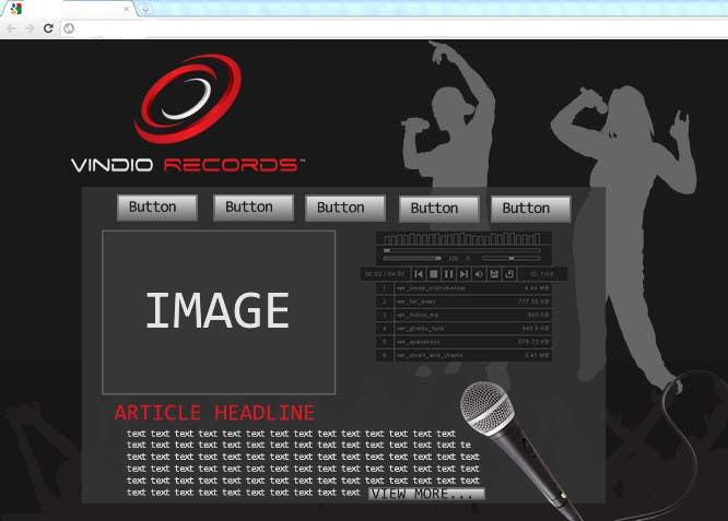 Participación en el concurso Nro.                                        2                                      para                                         Website Design for Vindio Records, LLC a record label
