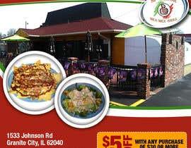 """Nro 9 kilpailuun Design Small Print Ad for Mexican Restaurant Ad (2.6"""" x 2.6"""") käyttäjältä pardessiaakash"""