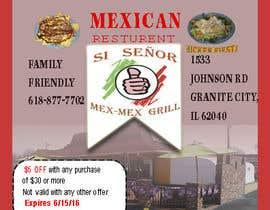 """Nro 7 kilpailuun Design Small Print Ad for Mexican Restaurant Ad (2.6"""" x 2.6"""") käyttäjältä photomaster070"""