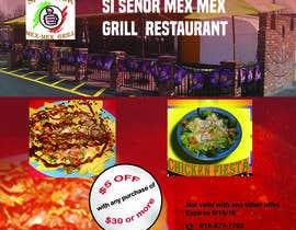 """Nro 8 kilpailuun Design Small Print Ad for Mexican Restaurant Ad (2.6"""" x 2.6"""") käyttäjältä litfulbari"""