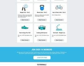 Nro 109 kilpailuun Design a Website Mockup - Training Course Platform käyttäjältä DTSoftVN