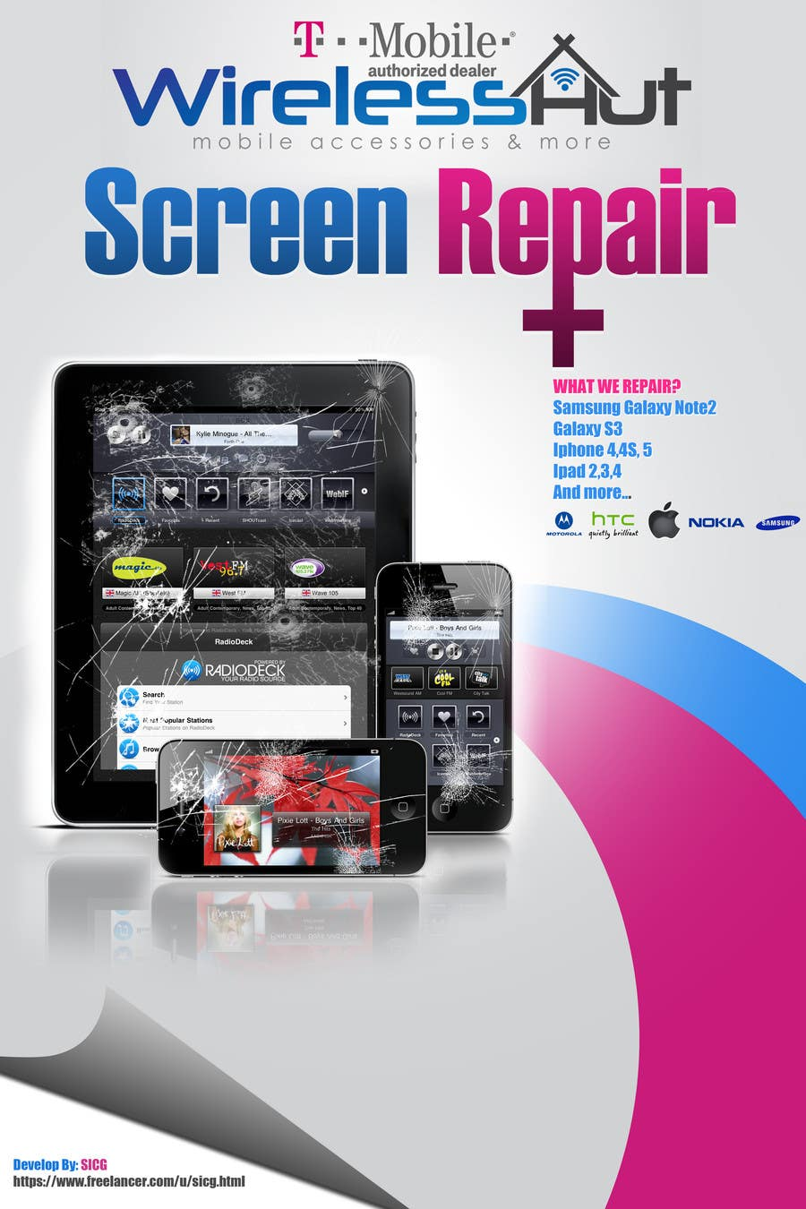 Design A Banner For Cell Phone Repair Freelancer