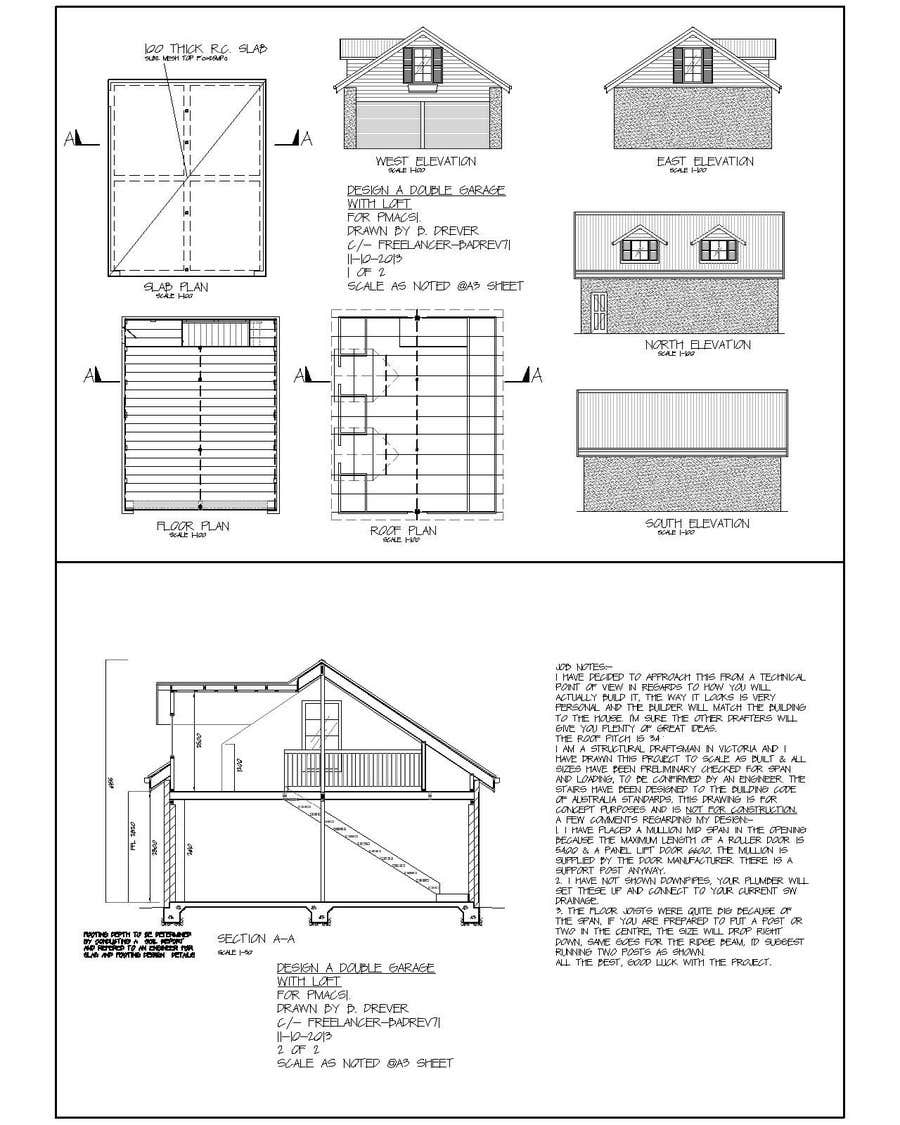 #4 for Design a double garage with loft by badrev71