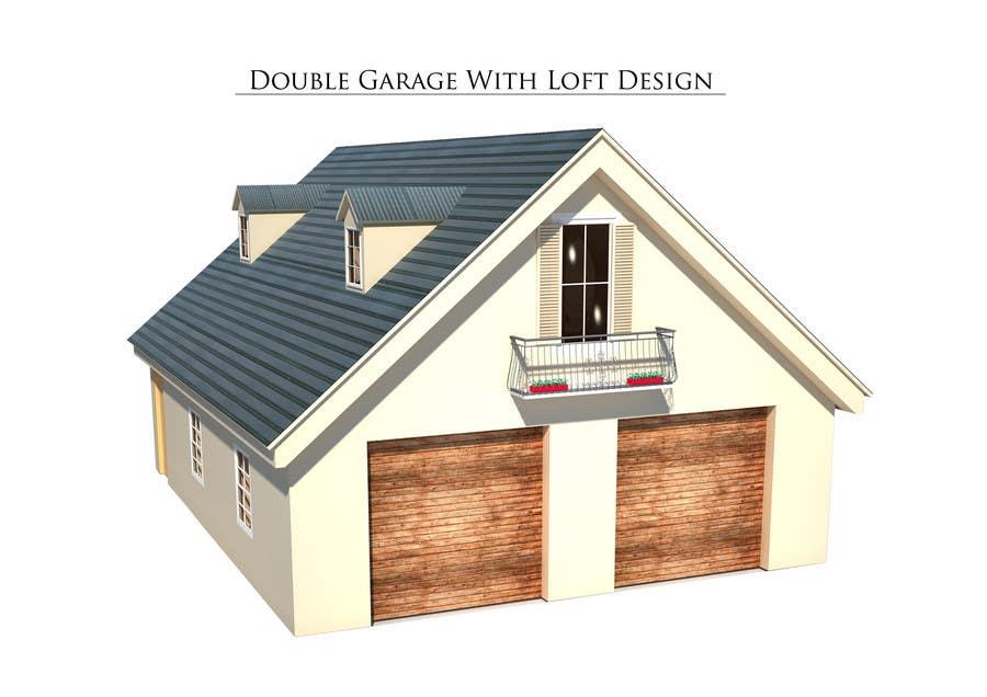 Design a double garage with loft freelancer for Double garage with loft