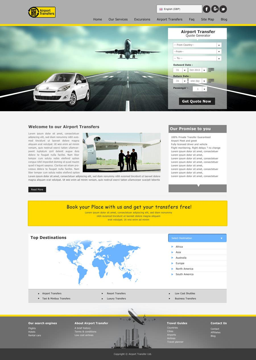 #11 for Website design for Airport Transfer by mdmonirhosencit