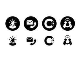 Nro 7 kilpailuun Design 4 Icons for our Contact us page käyttäjältä NikWB