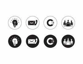 Nro 34 kilpailuun Design 4 Icons for our Contact us page käyttäjältä DesignApt