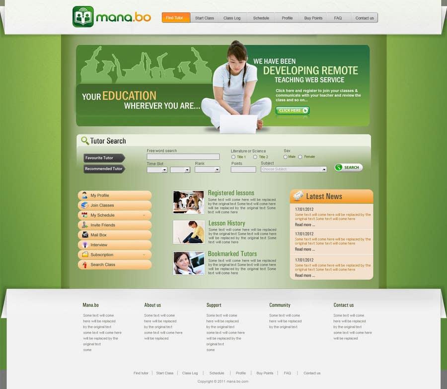 Contest Entry #                                        53                                      for                                         Website Design for mana.bo