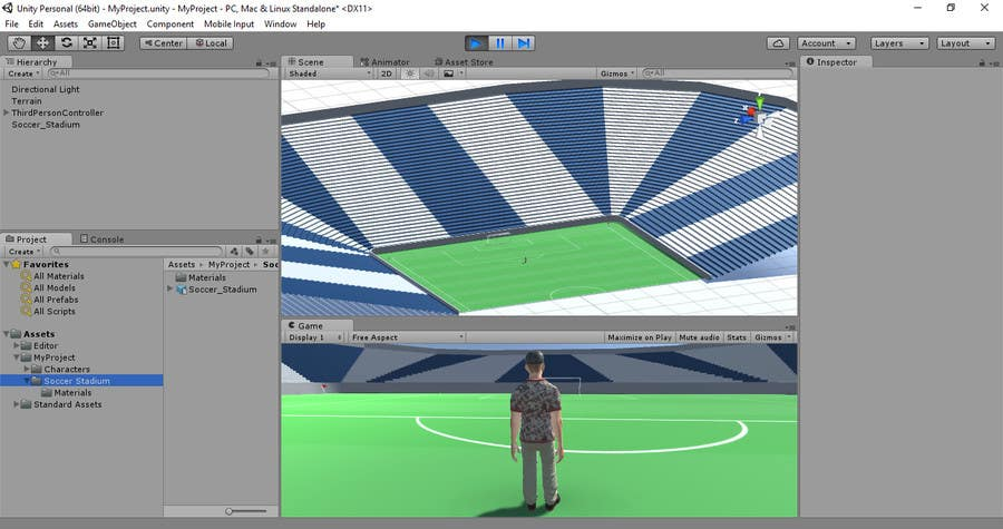 entry 5 by dn1976 for create low poly football soccer stadium with