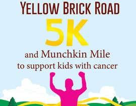 Nro 7 kilpailuun Yellow Brick Road 5K Race Brochure käyttäjältä lydias90