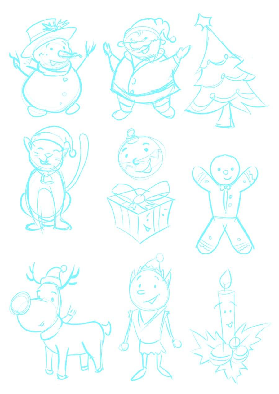 Bài tham dự cuộc thi #22 cho Cute Christmas Drawings