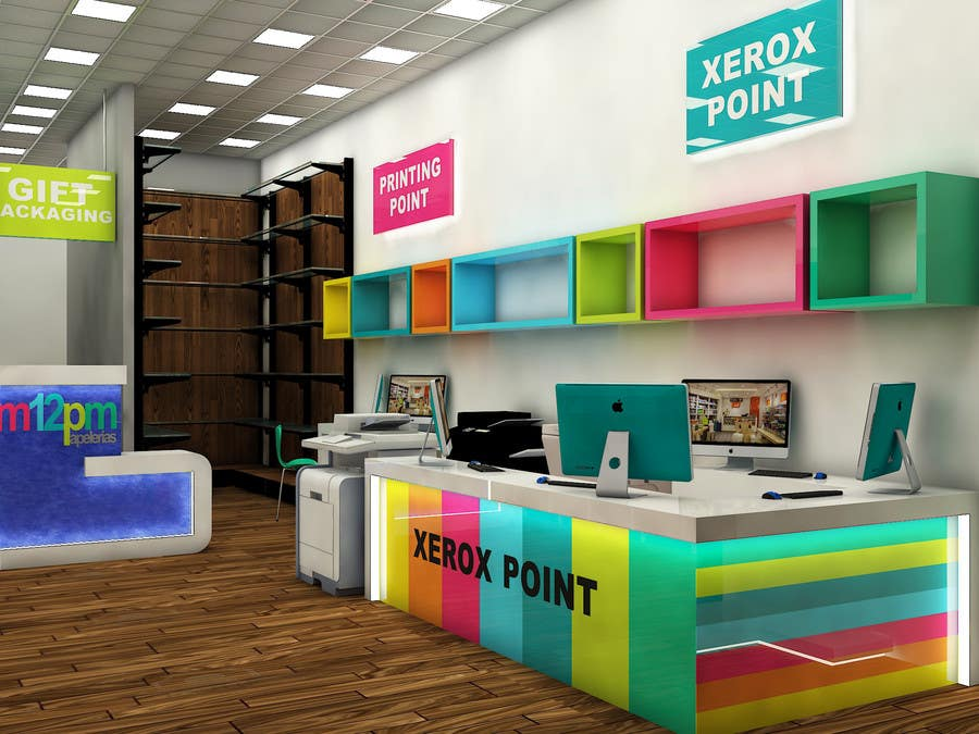Delightful Contest Entry #25 For 3D Render For Small Stationery Store Layout