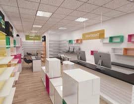 Nro 17 kilpailuun 3D render for small stationery store layout käyttäjältä salamonzsolt