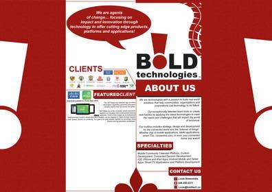 #17 for Design a Brochure for BOLD! Mobile Community Platform by samzter21