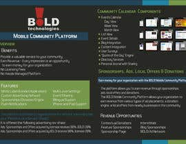 DanaDouqa tarafından Design a Brochure for BOLD! Mobile Community Platform için no 37
