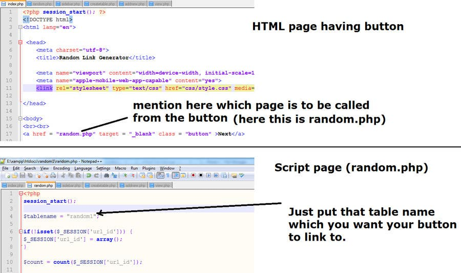 Write a Script that will generate randomized HTML links | Freelancer