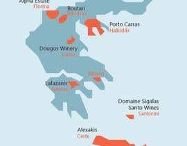 Nro 9 kilpailuun Map of Greek Wine Regions käyttäjältä farkasbenj