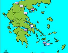 Nro 5 kilpailuun Map of Greek Wine Regions käyttäjältä andymitch1969
