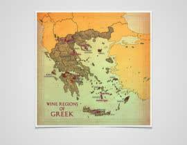 Nro 11 kilpailuun Map of Greek Wine Regions käyttäjältä wlknzn
