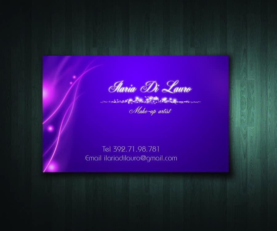 Inscrição nº                                         242                                      do Concurso para                                         Business Card Design for Ilaria Di Lauro - Make-up artist