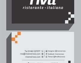 Nro 11 kilpailuun Design a restaurant business card käyttäjältä shoebnoor