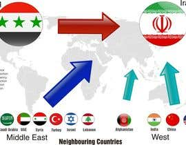 #9 cho Navigational Compass Mini-Infographic for Middle East Research Paper showing Country Relationships bởi DYNAMICWINGS